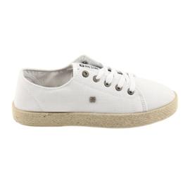 Big Star Bailarinas alpercatas sapatos femininos branco grande estrela 274423