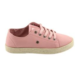 Big Star Bailarinas alpercatas sapatos femininos rosa grande estrela 274425 -de-rosa