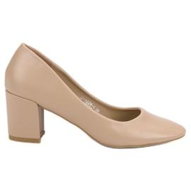 Ideal Shoes marrom Bombas Bege Clássicas