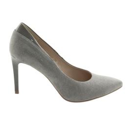 Bombas em sapatos femininos ANIS cinza
