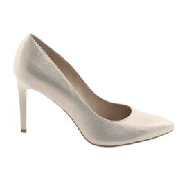 Sapatos de couro das mulheres sapatos Anis 4527 amarelo