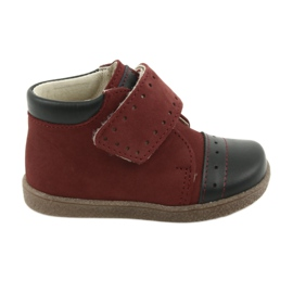 Ren But Sapatos de menino com velcro Ren Mas 1535 Borgonha