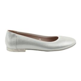 Cinza Sapatos de bailarina para mulheres prata Sergio Leone 607