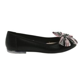 Preto Calçados femininos de bailarina com arco Sergio Leone 605