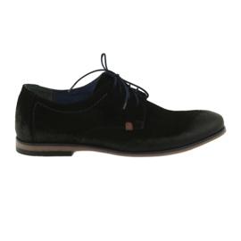 Sapatos de camurça dos homens Nikopol 1709 preto
