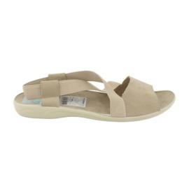 Sandálias para mulheres Adanex 17495 beige marrom