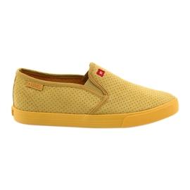 Big Star amarelo As sapatilhas deslizantes das mulheres grandes da estrela 274889
