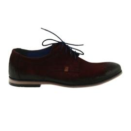 Sapatos de camurça masculino Nikopol 1709 Borgonha