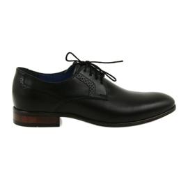 Preto Sapatos informais formais para homens Nikopol 1695 black