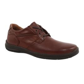 Sapatos Badura homens conforto 3509 marrom