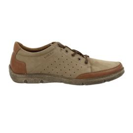 Marrom Sapatos masculinos Badura 3524 beige / brown