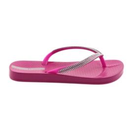 Flip flops correntes de prata Ipanema 82528 rosa