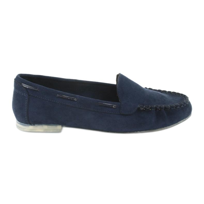 Mocassins de camurça para mulher Sergio Leone 722 azul marinho marinha