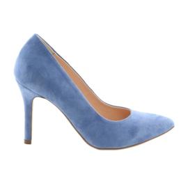 Bombas em um pin sapatos femininos Edeo 3313 azul