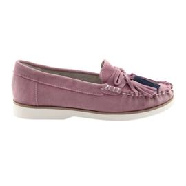 Mocassins de senhoras Filippo 641 confortáveis -de-rosa
