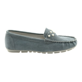 Sapatos mocassins femininos de Filippo cinza