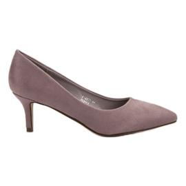 Ideal Shoes roxo Bombas Confortáveis De Salto Alto