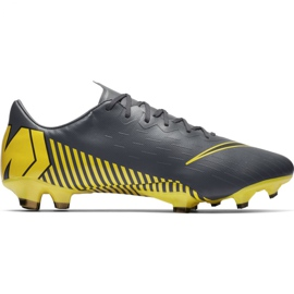 Botas de futebol Nike Mercurial Vapor 12 Pro Fg M AH7382-070 cinza cinza / prata