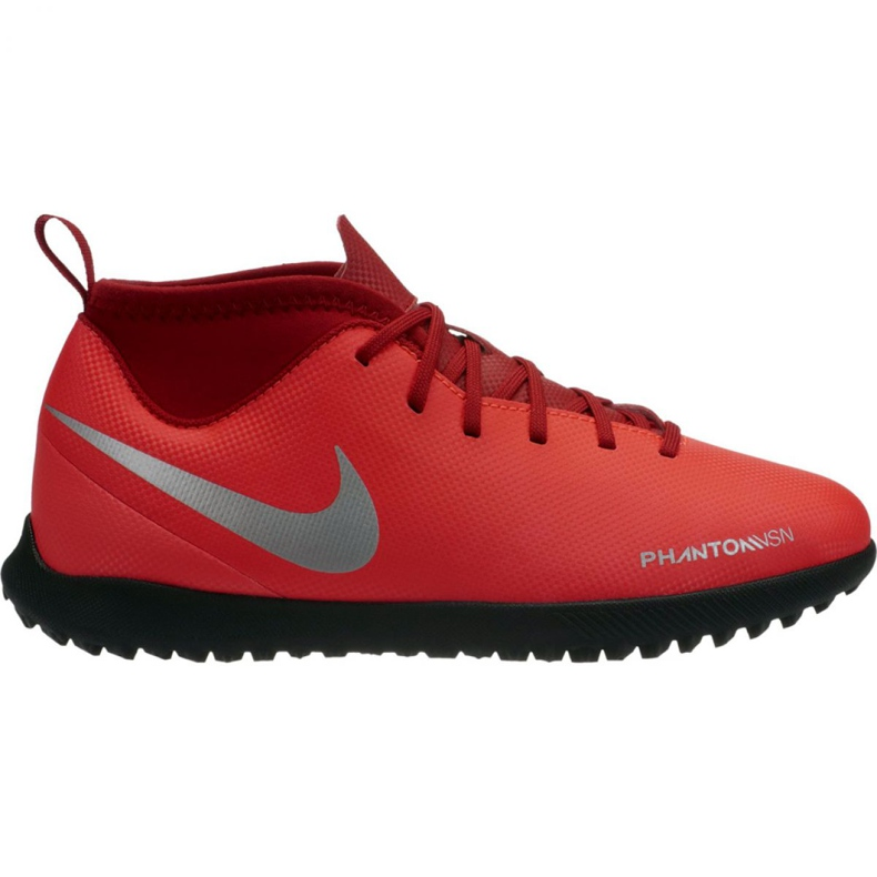 Tênis Nike Phantom Vsn Clube Df Tf Jr AO3294-600 vermelho multicolorido