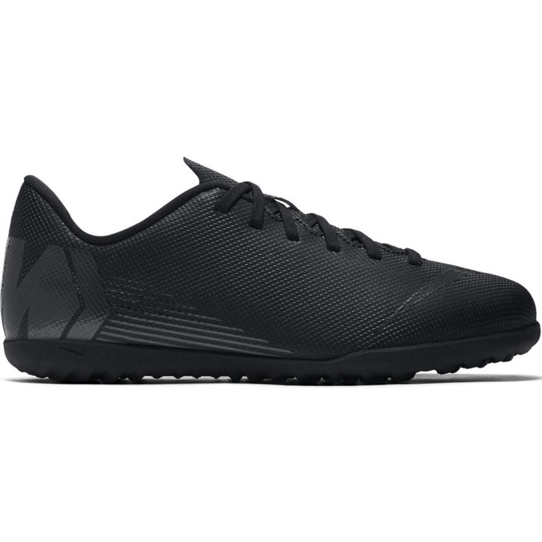 Tênis Nike Mercurial Vapor X 12 Clube Tf Jr AH7355-001 Futebol preto azul marinho, preto