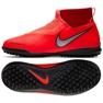 Sapatos de futebol Nike Phantom Vsn Academia Df Tf Jr AO3292-600 vermelho vermelho