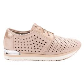 Aclys marrom Sapatos cor de rosa