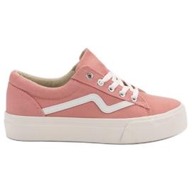 Kylie Tênis rosa na moda -de-rosa