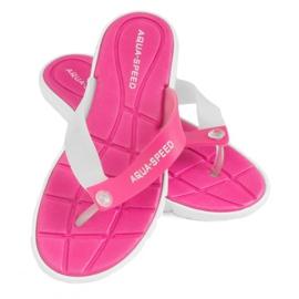Chinelos Aqua-Speed Bali rosa e branco 05 479
