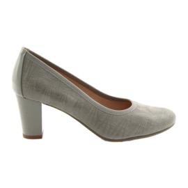 Sapato feminino sola elástica Arka 5137 cinza