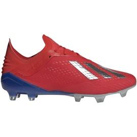 Sapatos de futebol adidas X 18.1 Fg M BB9347 vermelho vermelho