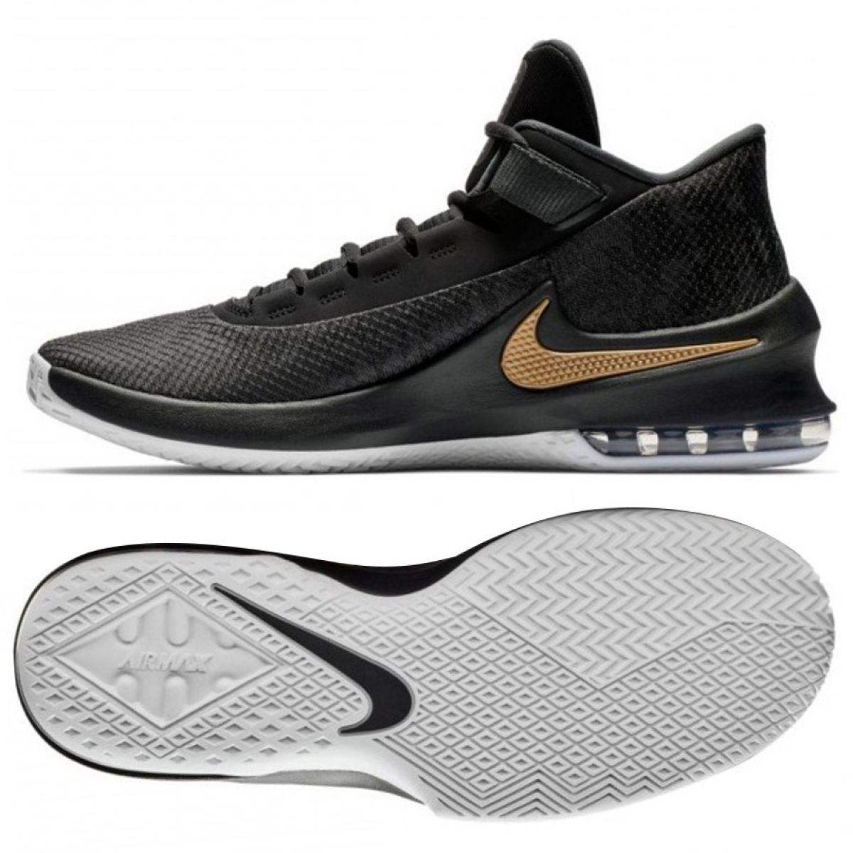 Tênis de basquete Nike Air Max Infuriate 2 Mid M AA7066 002 preto preto