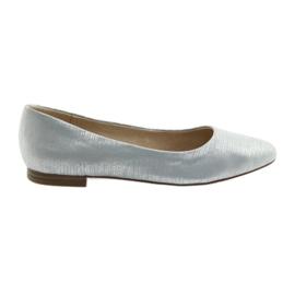 Bailarinas bombas Caprice 22104 prata azul