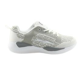 Esportes das mulheres DK SA349 branco / cinza