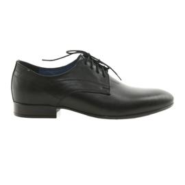 Sapatos de lona clássicos masculinos Nikopol 1693 preto