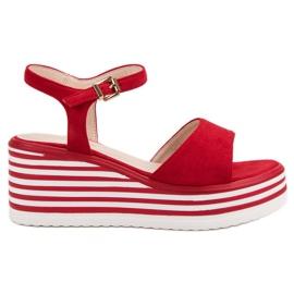 Vinceza Sandálias confortáveis de cunha vermelho