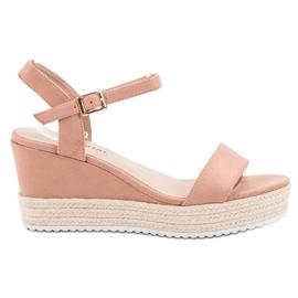 Seastar Sandálias confortáveis de cunha -de-rosa