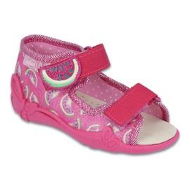 Calçado infantil amarelo Befado 342P004 -de-rosa