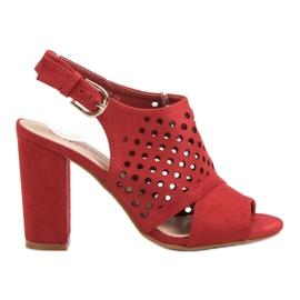 Seastar Openwork, sandálias construídas vermelho