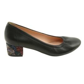 Bombas de couro das mulheres sapatos Arka 5627 preto