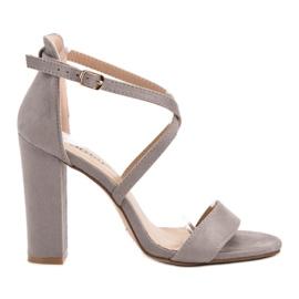 Seastar cinza Sandálias Cinzentas Elegantes