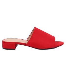 Chinelos vermelhos femininos XW9093 Vermelho