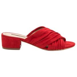 Corina vermelho Chinelos na moda