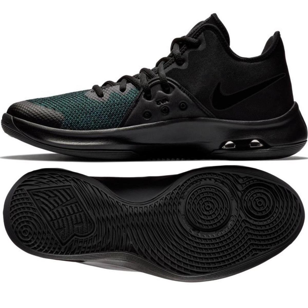 Tênis de basquete Nike Air Versitile Iii M AO4430 002 preto multicolorido