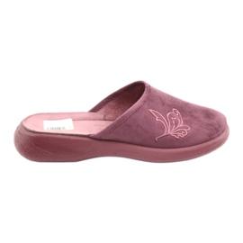 Sapatos femininos Befado pu 019D096 roxo