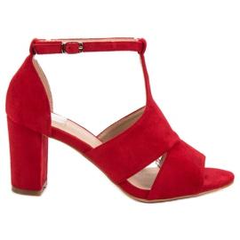 Vinceza vermelho Sandálias Vermelhas