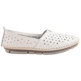 Kylie Sapatos de couro das mulheres branco