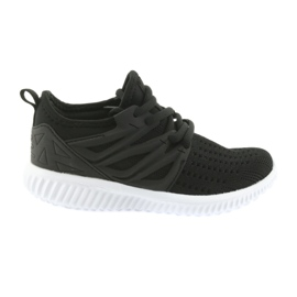 Palmilha de couro Bartek 55114 calçado desportivo preto