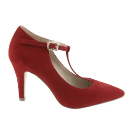 Sapatos femininos vermelho Caprice 24400