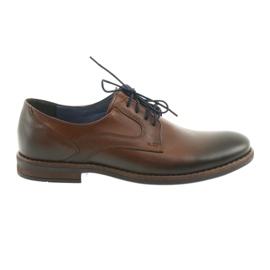 Mens marrom sapatos masculinos Nikopol 1712