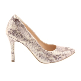 Sapatos femininos Edeo 3313 pele de cobra
